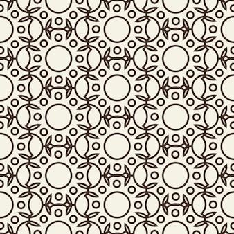 スタイリッシュな抽象的なシームレスな黒と白のパターン