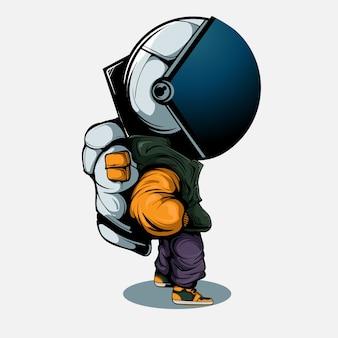Стильный астронавт
