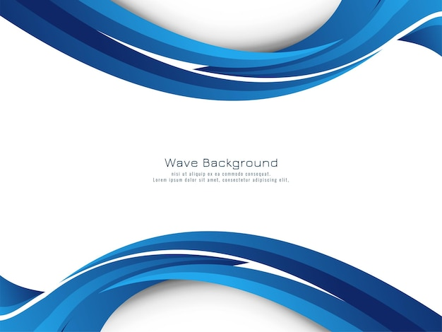 Stylish beautiful blue wave flowing design background vector