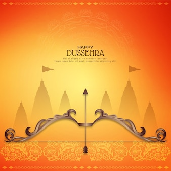 Stylish beautiful happy dussehra religious festival background vector