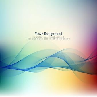 Stylish beautiful wave colorful background
