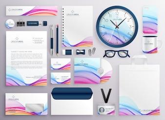 Stylish big set of business stationery items