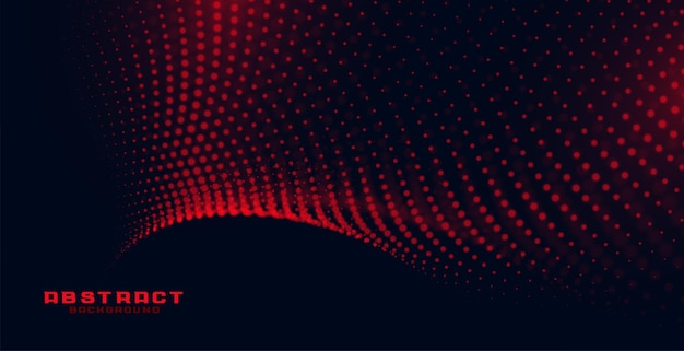 Stylish black background with red particles pattern