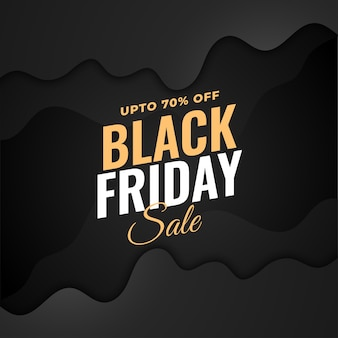Stylish black friday sale dark background design