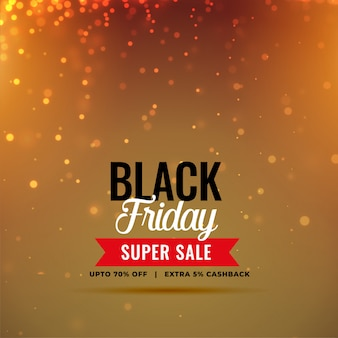 Stylish black friday sale sparkles background