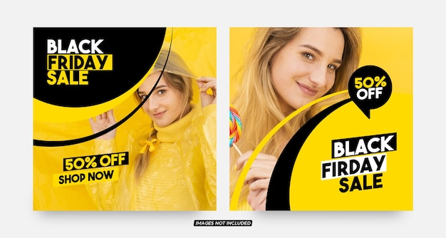 Stylish black friday social media post templates