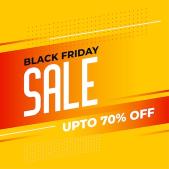 Stylish black friday yellow sale banner design