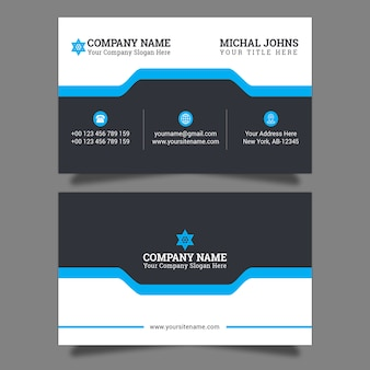 Stylish blue elegant business card