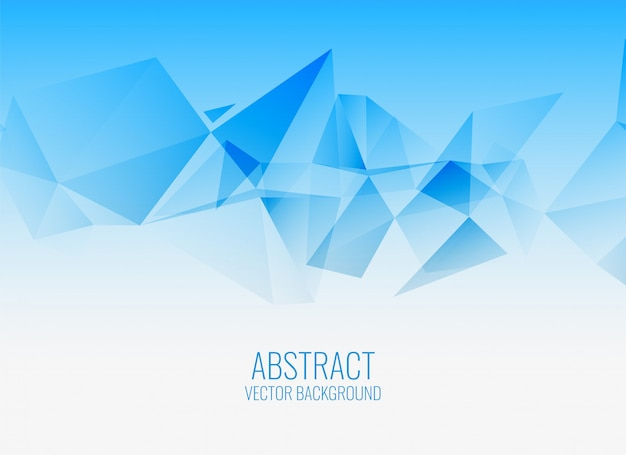 Stylish blue geometric abstract background
