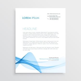 Stylish blue letterhead design