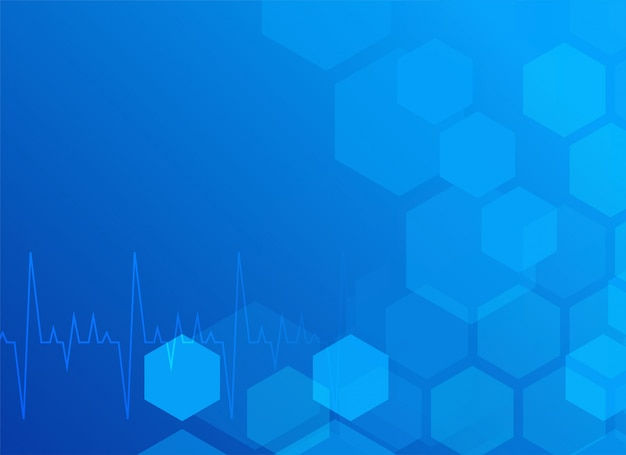 Stylish blue medical background with hexagon