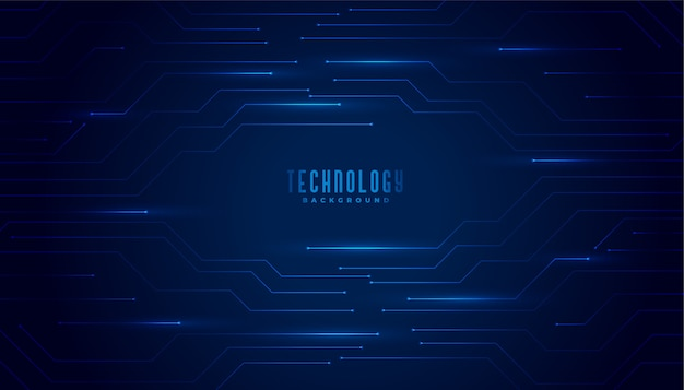 Stylish blue technology circuit diagram lines background