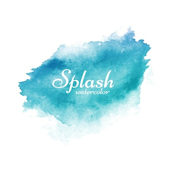 Stylish blue watercolor splash