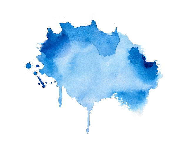 Stylish blue watercolor stain texture background