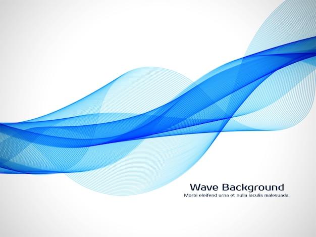 Stylish blue wave background design
