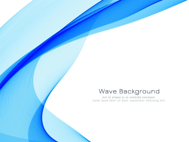 Stylish blue wave background