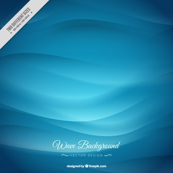 Stylish blue waves background