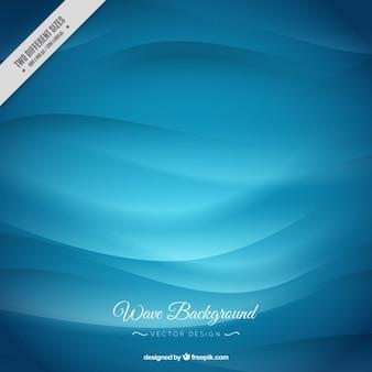 スタイリッシュな青い波背景 Premiumベクター