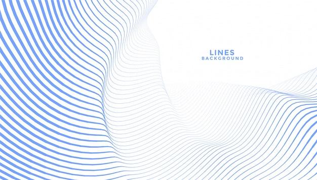 세련 된 파란색 물결 선 추상적 인 배경 디자인