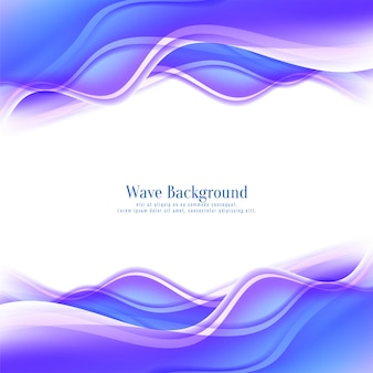 Stylish bright glossy wave flowing background