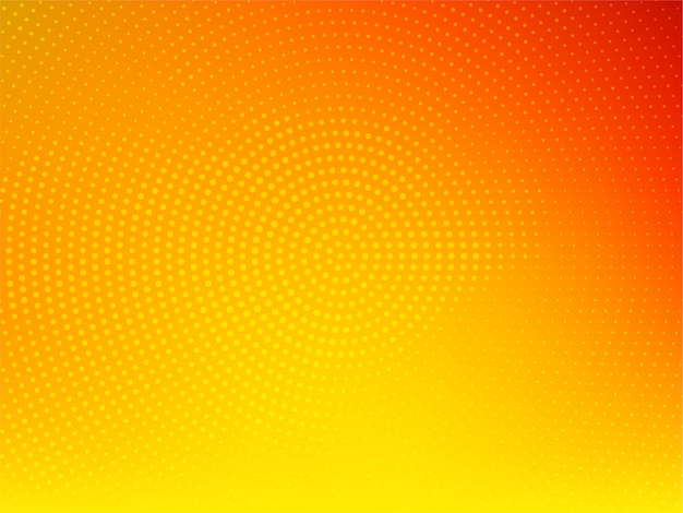Stylish bright yellow color halftone background