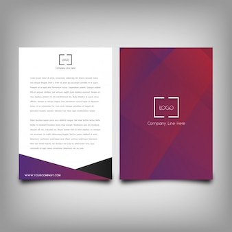 Stylish brochure abstract template