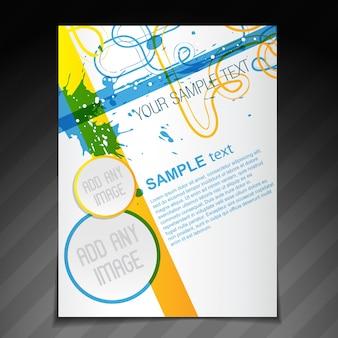 Вектор красивая брошюра флаер шаблон иллюстрации