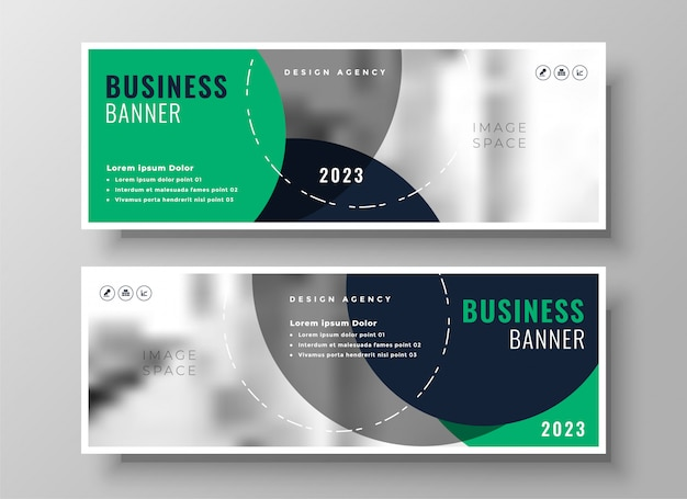 Stylish business banner
