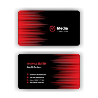 Stylish business card with red bursts