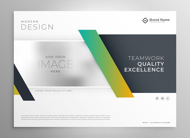 Stylish business presentation modern template design