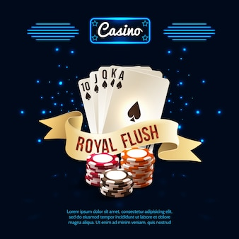 Stylish casino realistic composition