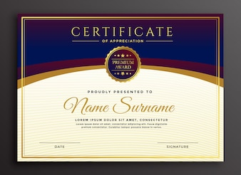 Стильный дизайн сертификата профессионального шаблона
