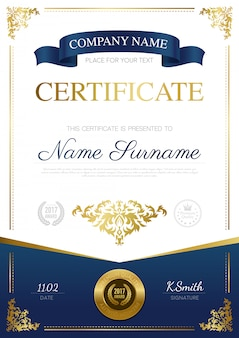 Stylish certificate design
