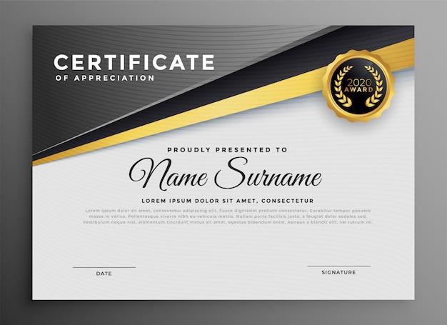Elegante modello di certificato per uso polivalente