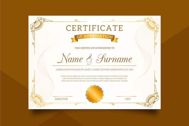 Stylish certificate template