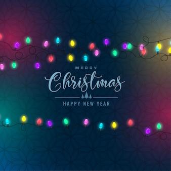 Stylish christmas festival colorful lights background
