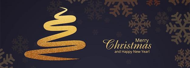 Stylish christmas tree banner template