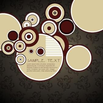 Eleganti cerchi vettoriali con spazio per il testo