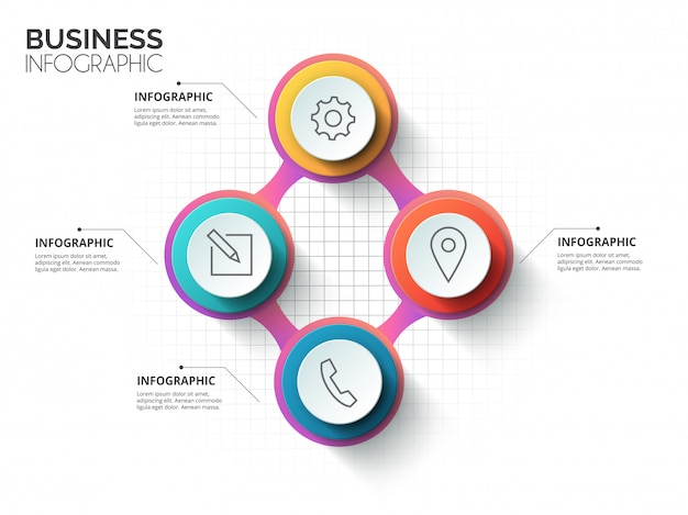 Stylish circle history mindmap business infographics template. web site infographic background concepts collection  .