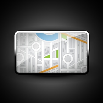 Stylish  city map icon illustration