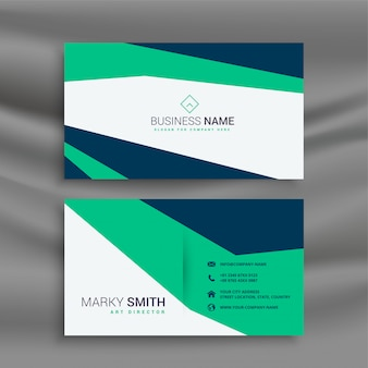 Stylish clean geometric business card template