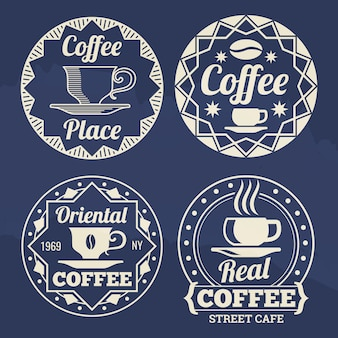 Stylish coffee labels   for cafe, shop, market