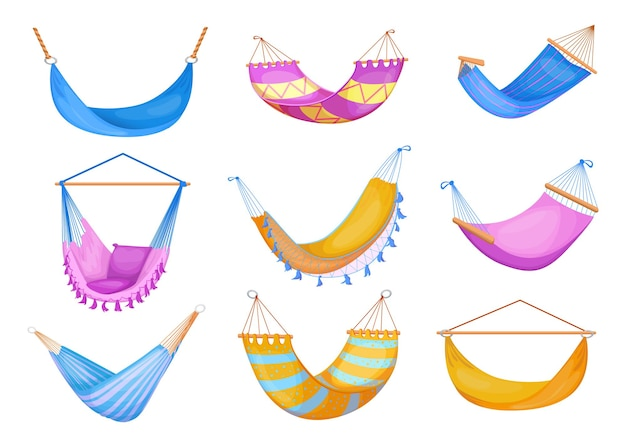 Stylish collection of hammocks flat pictures