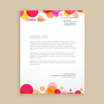 Stylish colorful business letterhead