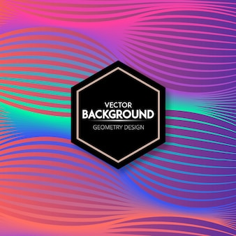 Stylish colorful gradient wave background design