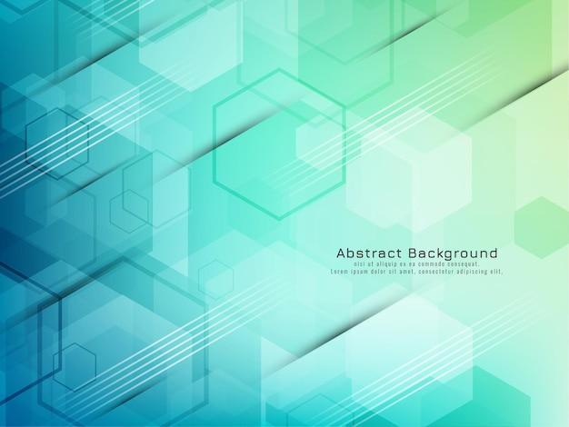 Stylish colorful hexagon shapes geometric background