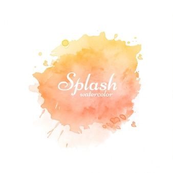 Stylish colorful watercolor orange splash