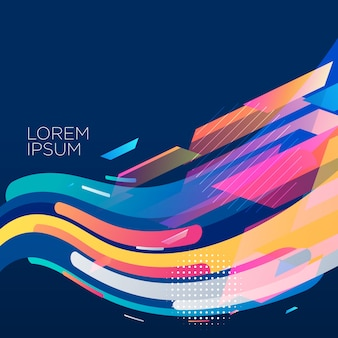 Stylish colorful wave background design