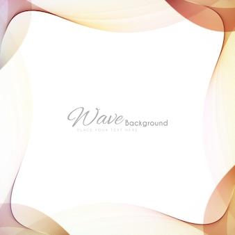 Elegante cornice colorata sfondo ondulato