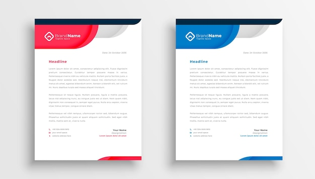 Stylish company letterhead template for business identity